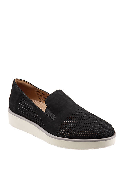 Whistle Perforated Slip On Shoes