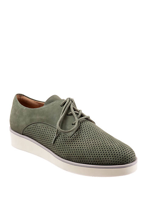 Softwalk Willis Perforated Lace Up Shoes