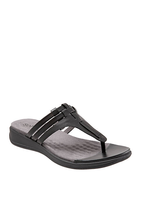 Tracy Weaved T-Strap Sandals