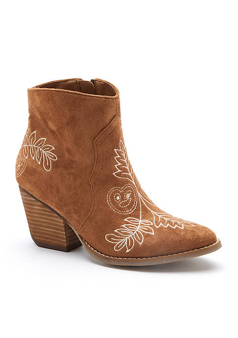 Axis Embroidered Bootie