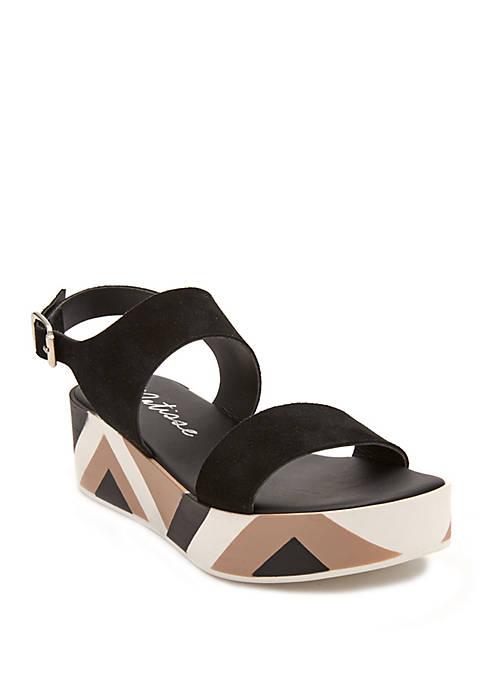 Geo Flatform Sandals