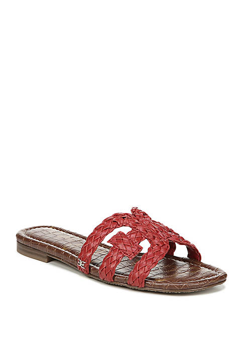 Beckie Woven Cut Out Slide Sandals