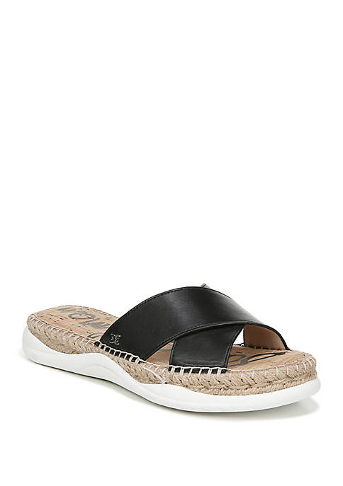 Jen Criss Cross Chunky Slide Sandals