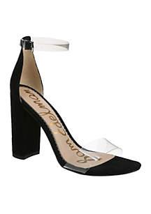 Yaro Lucite Strap Heel