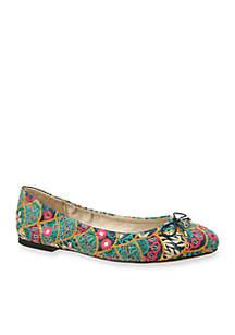 Felicia Embroidered Ballet Flats