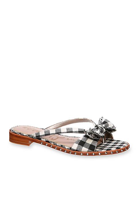de0a3e70e Sam Edelman Dariel Bow Stud Slide Sandal