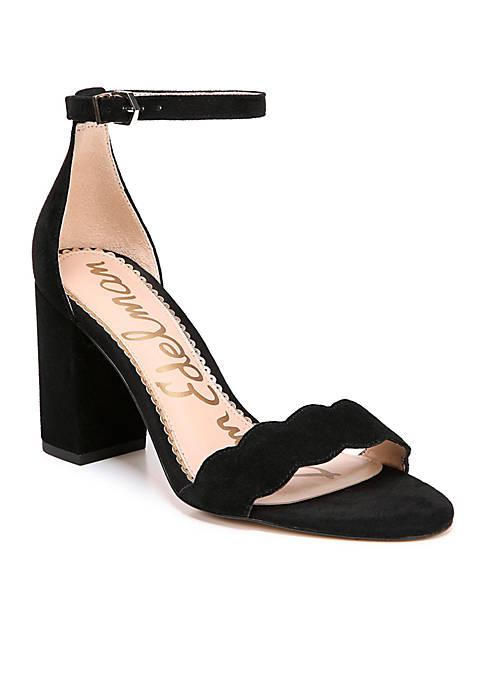 Odila Short Ankle Strap Block Heel