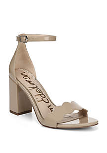 Odila Scalloped Toe Strap Block Heel