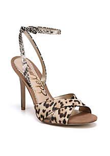 Ali Leopard Ankle Wrap Sandals