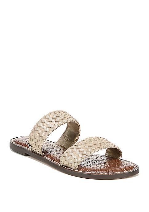 Gala 2 Woven Double Strap Slide Sandals