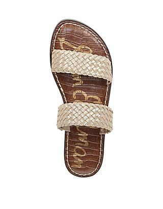 17cf203a0 ... Sam Edelman Gala 2 Woven Double Strap Slide Sandals ...