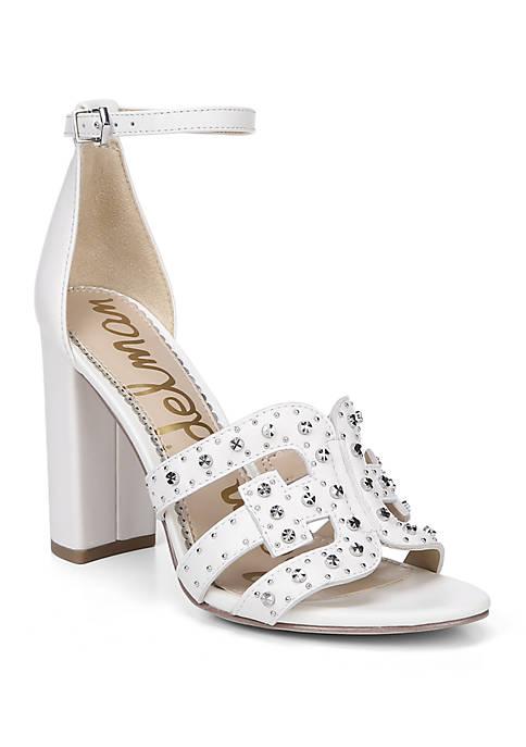 Yasha Studded Toe Strap Block Heel