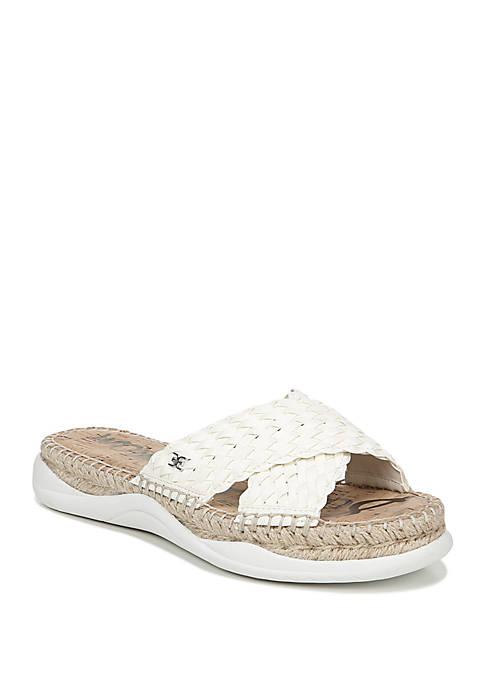 Jovie Weaved Criss Cross Chunky Slide Sandals