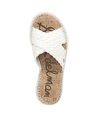d0782ca79 ... Sam Edelman Jovie Weaved Criss Cross Chunky Slide Sandals ...
