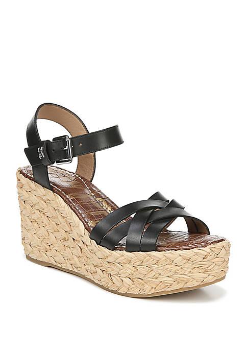 Darline Woven Wedge Sandals