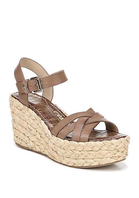 Darlene Braided Wedge Sandals