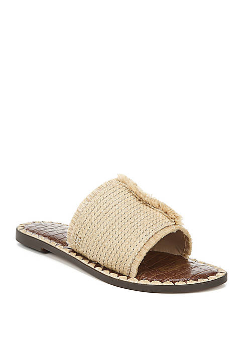Glenda Woven Slide Sandals