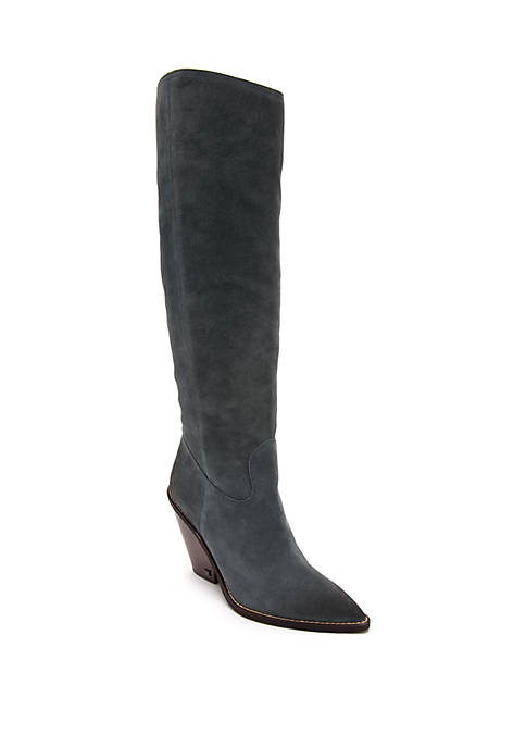 Indigo Tall Slouch Boots