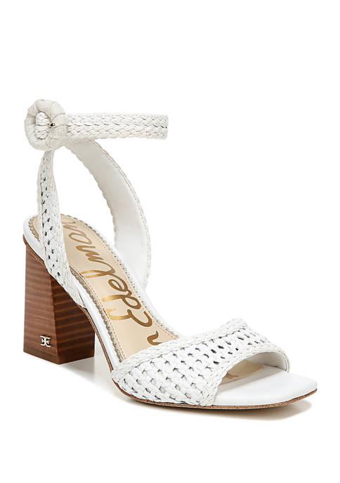 Danee Woven Block Heel Sandals