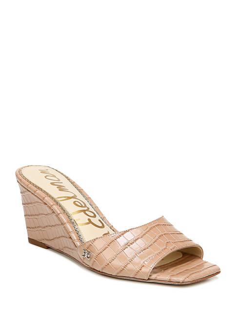 Tesma Square Toe Wedge Sandals