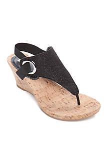 White Mountain Aida Wedge Sandals