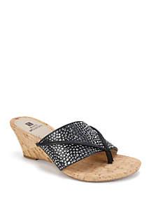 White Mountain Alexandria Glitter Sandals