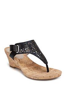 White Mountain Alise Glitter Sandals