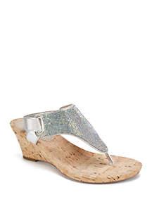 White Mountain Allegany Glitter Sandals