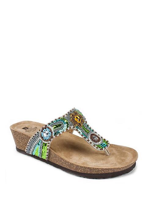 Blue Jay Embellished Sandals
