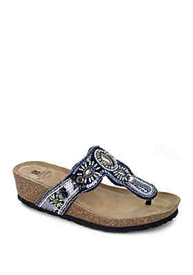 086e2fb63f6f White Mountain Bountiful Embellished Sandals ...