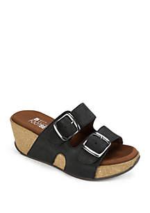 White Mountain Chandler Platform Sandals