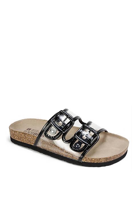 Hilda Vinyl Buckle Sandals