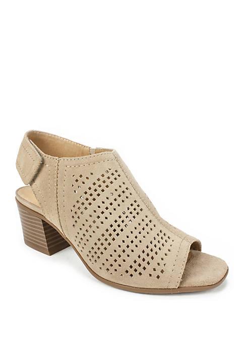 Lorna Stacked Heel Slingback Sandal