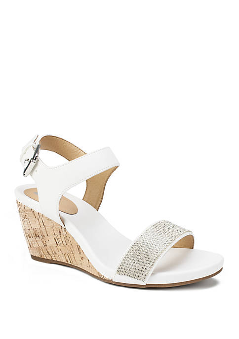 Phillis Ankle Strap Wedge Sandals