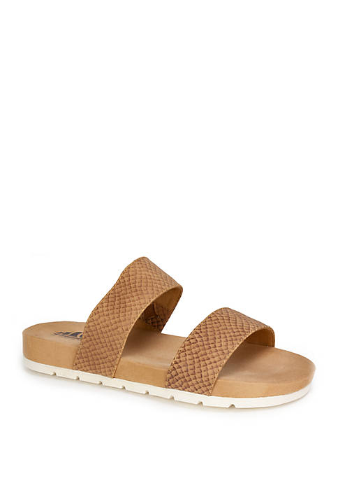 Cliffs by White Mountain Tahlie Double Strap Sandals