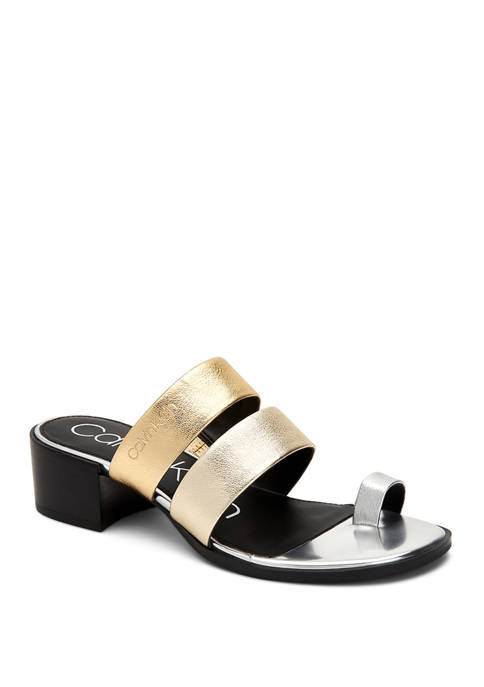 Calvin Klein Peggy Metallic Nappa Heels