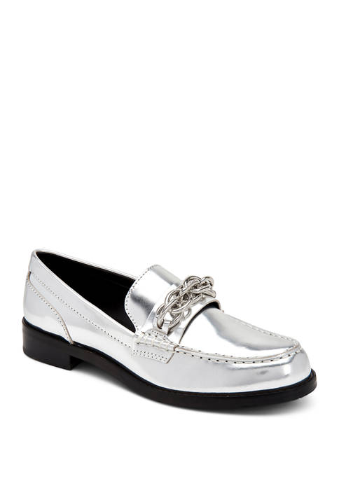 Calvin Klein Sirah Metallic Box Loafers
