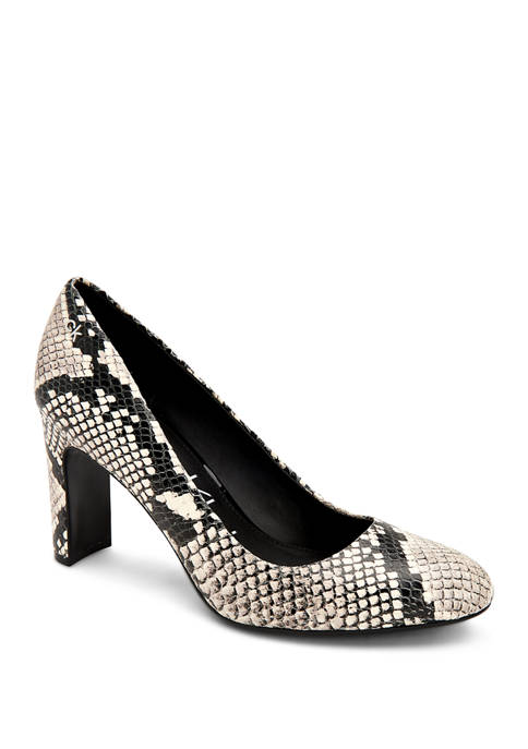Octavia Two Tone Snake Heels