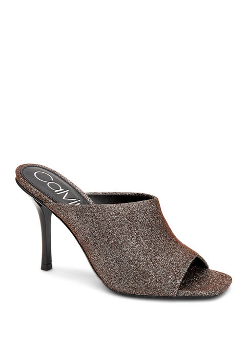 Matos Glitter Denim Heels