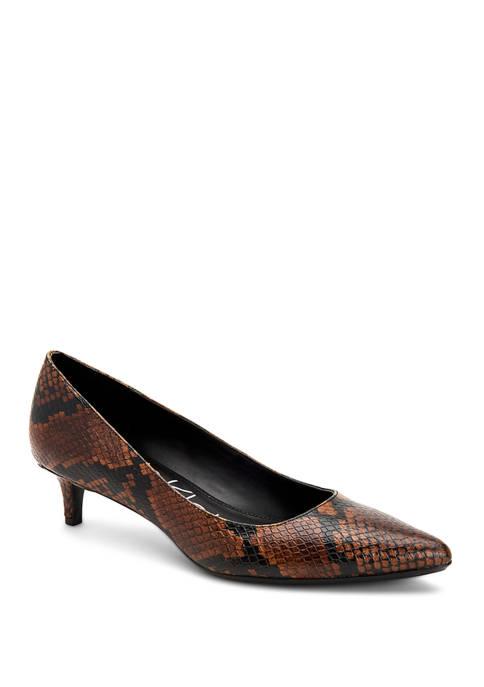 Calvin Klein Gabrianna Mamba Snake Print Heels