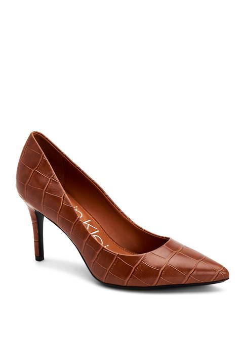 Calvin Klein Gayle Croc Embossed Heels
