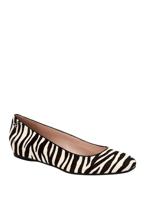 Calvin Klein Heidy Zebra Haircalf Flats