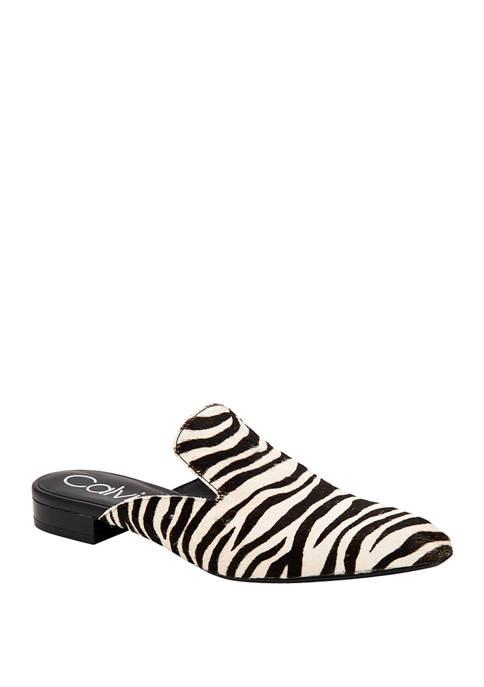 Calvin Klein Moise Zebra Hair Calf Mules