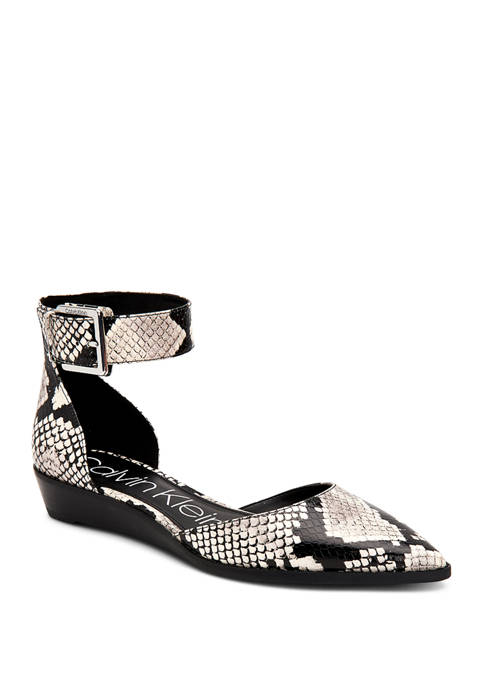 Calvin Klein Tamina Mamba Snake Print Sandals