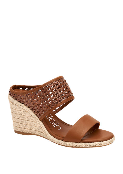 Brooke Woven Canvas Wedges