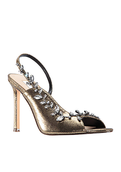 Nina Deanne Metallic Suede Sandal