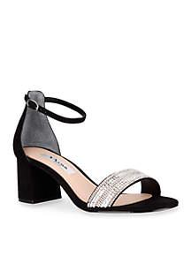 Elenora Low Heel Sandal