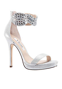Fayth Jeweled Metallic Heel