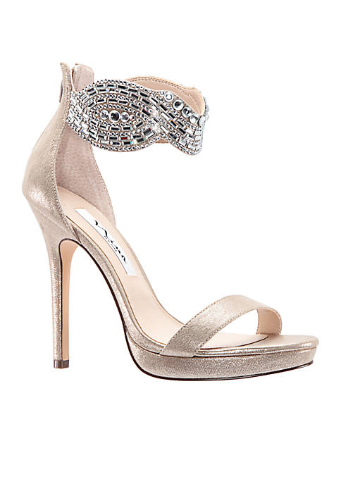 Fayth Jeweled Metallic Heel