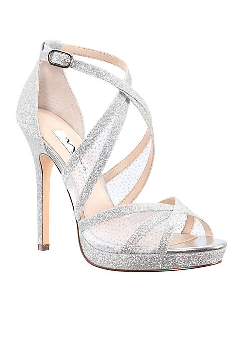 Nina Fenna Glitter Platform Sandals